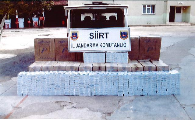 Siirt'te Gümrük Kaçağı Sigara Ele Geçirildi
