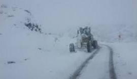 Siirt'te Kar Yağışında 45 Köy Yolları Kapandı