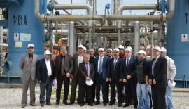 VALİ TUTULMAZ, (TPAO) DODAN GAZ ÜRETİM SAHASI'NDA İNCELEMELERDE BULUNDU