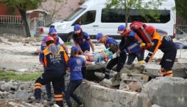 Siirt'te Deprem ve Yanğın Tatbikatı Yapıldı