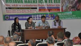 'Rojava Halkı İçin El Ele' Kampanyasının Startı Verildi