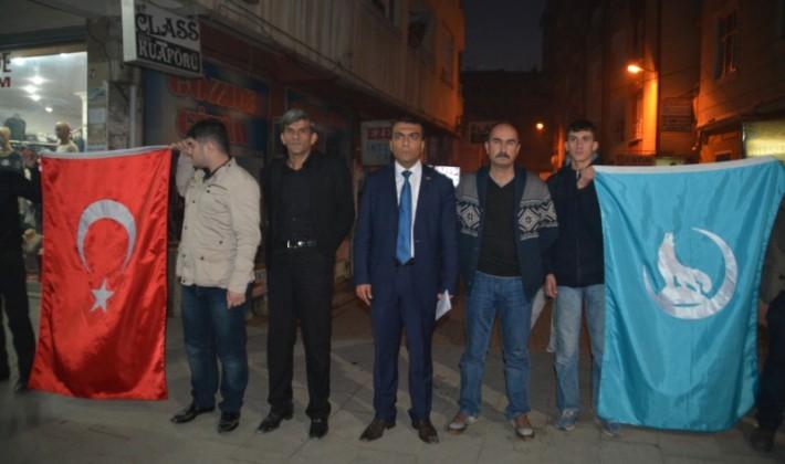 Türkmen Köylerine Yönelik Kara Harekatını Protesto Ettiler