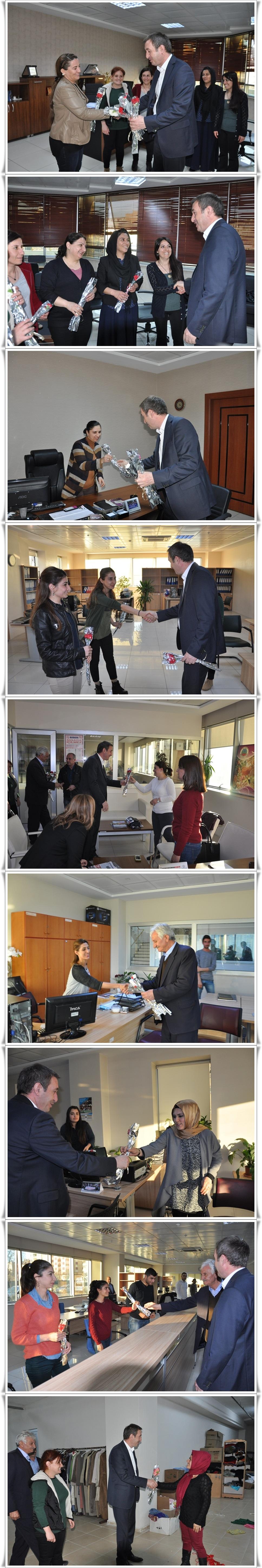 Eş Başkan Bakırhan'dan Kadın Personele Karanfil (1)-vert