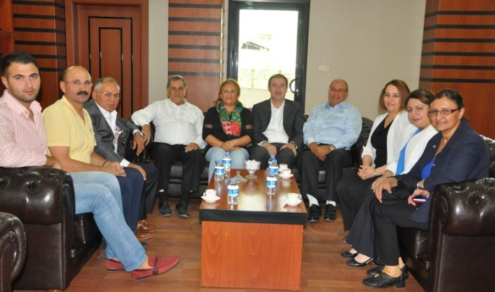 Siyaset ve İş Dünyasından Belediye Ziyaret