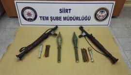 Siirt'te PKK/KCK Terör Örgütüne Ait Roketatar ve Mühimmat Ele Geçirildi