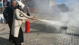 Şirvan'da Yangın Eğitimi Gerçekleştirildi