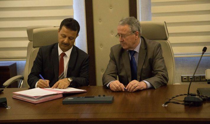 Arnavutluk Tiran Tarım Üniversitesi ile Üniversitemiz arasında işbirliği protokolü imzalandı.