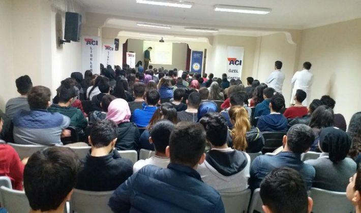 Siirt Açı Eğitim Kurumları Öğrencilere Seminer Verildi