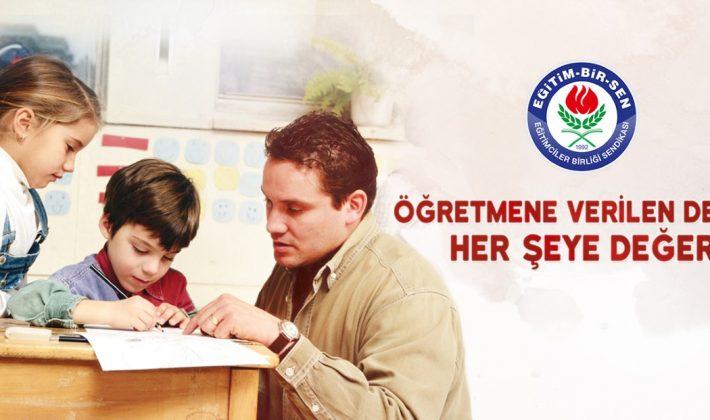 Siirt Eğitim-Bir-Sen;Öğretmene Verilen Değer Her Şeye Değer